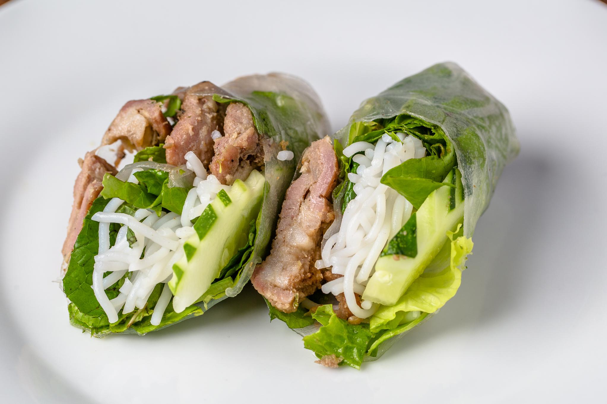Bun Mi Pork Spring Roll